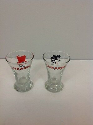 GREAT SET OF 2 LUXARDO 1821 SHOT GLASSES Glass