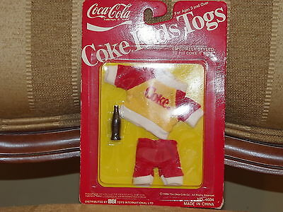 1986 BBI Toys Coke Kids Togs Outfit Red & Yellow Shirt and Red Pants #4034 MOC