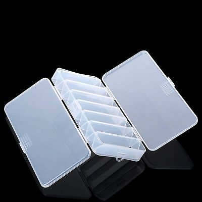 PC Double Sided Fishing Lure Bait Hooks Tackle Waterproof Storage Box Case Clear