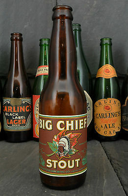 1950's Big Chief Stout Saskatoon Brewing Co. Canadian Beer Bottle w/Paper Label
