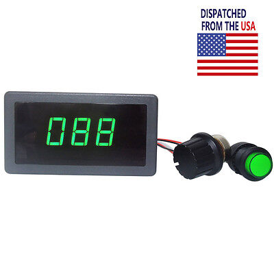 DC 6V 12V 24V PWM Motor Speed Controller Green Digital LED Display Regulator NEW