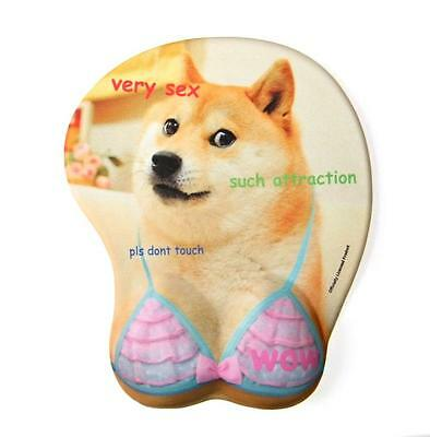 Doge 3D Oppai Mouse Mat - Funny Dog Cute Kawaii Boob Mousepad - Very Gaming Wow!