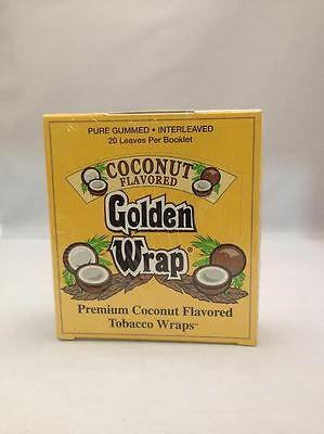 Golden Wrap Rolling Papers COCONUT Flavor 20 Booklets.