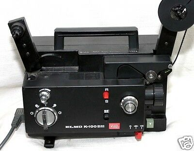 ELMO K-100 super 8 MM and standard 8mm  projector,tested with film