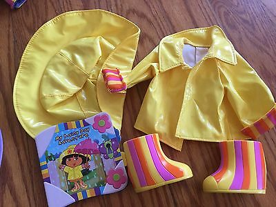 Dora Dress Up Adventure 15 in Doll Clothes Outfit My Rainy Day Rain Lot EUC