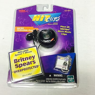 2002 Tiger Hit Clips Micro Personal Player Music Britney Spears OVERPROTECTED