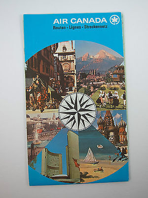Vintage 70's Air Canada Route Maps Booklet