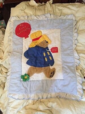 My First Paddington Bear Baby Toddler Crib Quilt Blanket Comforter Wall Hanging