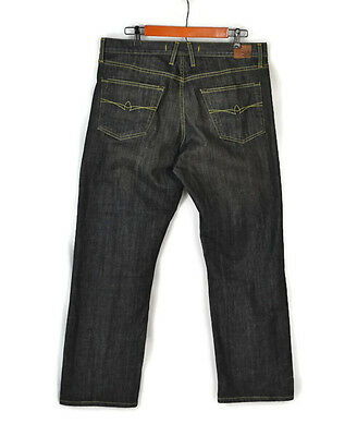 "$198 AGAVE DENIM ""Waterman"" Jeans Size 35 x 30 Men's Relaxed Straight Dark Wash"