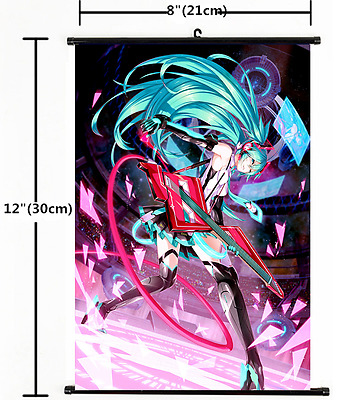 HOT Anime Hatsune Miku Kagamine Wall Poster Scroll Home Decor Cosplay 1397