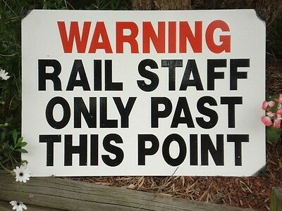 Rail Staff Only Enamel Man Cave  Sign (Made To Order)