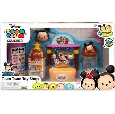 Tsum Tsum Toy Shop with 2 Mini Figures Squishies Stackable Playset Disney