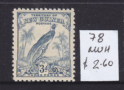 NEW GUINEA  3d   B/P  UN DATED   ASC 78   MH