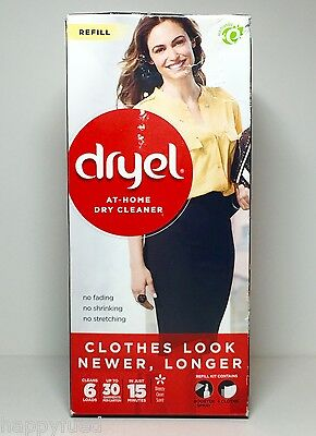 Dryel At Home Dry Cleaner Refill 6 Loads 1 Booster Spray 6 Cloths Breezy Clean