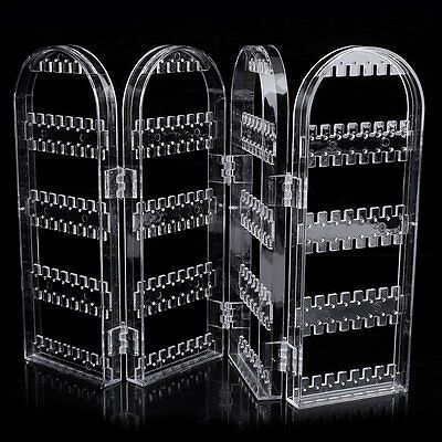Creative Plastic Folding Screen Earring Jewelry Display Stand Holder Rack CA