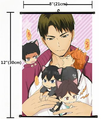 Anime Haikyuu high school volleyball Wall Poster Scroll Home Decor Cosplay 1469