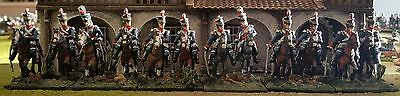 12 Painted 28mm Napoleonic British Light Dragoons by Connoisseur