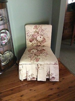 Vintage Upholstered Boudoir / Parlour / bedroom chair