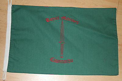Printed Royal Marines Commando Land Rover Vehicle Flag Banner Green