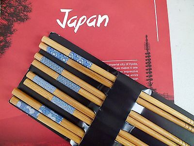 4 Set Japanese Blue White Mix Chopsticks Chinese Wedding Dinner Birthday Party