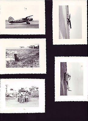 5 photos anciennes ,guerre INDOCHINE ,avions,helicoptere