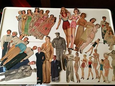 Antique vintage paper doll collection too many items to count wow!! RARE MASSIVE