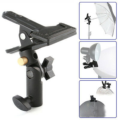 Swivel Head Light Stand Reflector Background Heavy Duty Holder Clip Clamp 5/8""