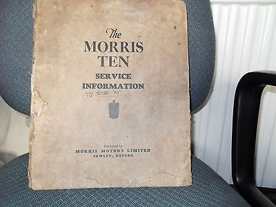 Morris Ten Sevice Information  including Series M Information.