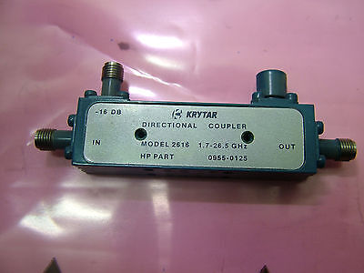 hp 0955-0125 1.7 - 26.5GHz directional coupler KRYTAR 2616 -16dB