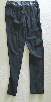 NWOT Willow Leather & Wool Slim line Pant. Size 12