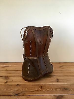 Extremely Rare Antique 19th Century Leather Fencing Corset Armour - Beautiful