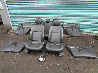 Mk1 Ford Focus 5 Door - Black Leather Heated Seats & Door Cards - Set