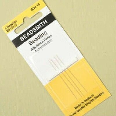 Beadsmith Size 15  Beading Needles Approx 45mm Long