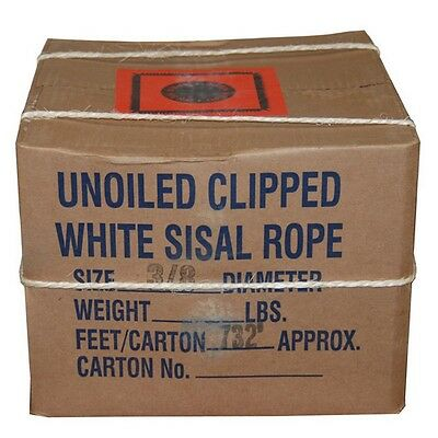 """T.W. Evans Cordage Co. 23-900 - 1"""" X 371' Twisted Sisal Rope NEW"""