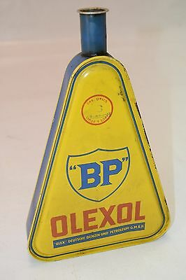 Vintage BP British Petroleum OLEXOLGraphite Motor Oil GERMAN Can Yellow Tin
