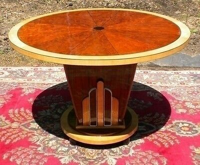 Extravagant Art Deco style round center table
