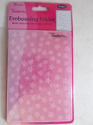 Embossing Folder A6 Stars Crafts Too CTFD3002