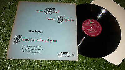 A00400L BEETHOVEN HASKIL GRUMIAUX 'SONATAS FOR VIOLIN AND PIANO' PHILIPS 1950s