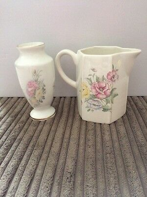 2 Flowered Pottery Items