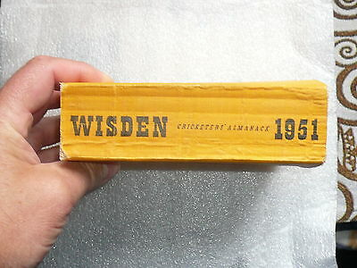 Wisden 1951 softback 88th Edition with all original covers. Very Good condition