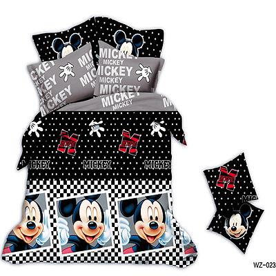 Minnie Mouse Queen Size Bed Quilt/Comforter Cover Set Polyester Pillows Linen