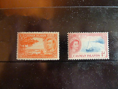 Cayman Island- 2 Mint hinged stamps