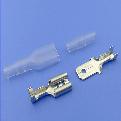 100pcs/lot 6.3 male and female insulated terminal cold terminal with transparent