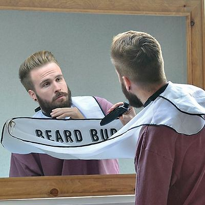 Beard Buddy Attachable Shaving Apron Bib Hair Catcher with Travel Bag