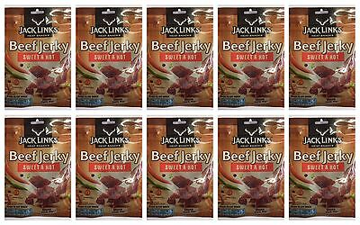 Jack Links Beef Jerky 75g Bags - Sweet and Hot - 10 Packs