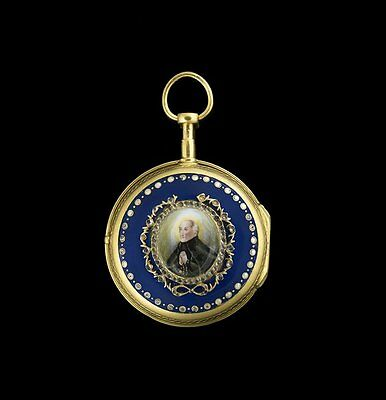 18th Century Gold/Silver, Enamel and Paste Fusee Pocket Watch
