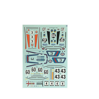 SRT D32004 Decal Porsche 911 Martini Gulf Chiquita No. 3, 43, 60 & 106 1:32