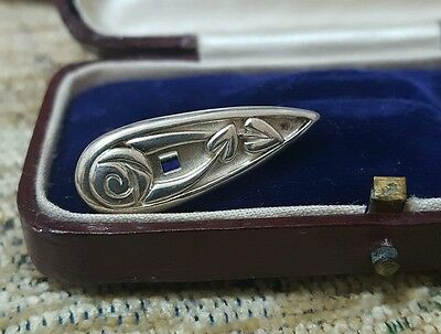 Vintage 925 Sterling Silver Brooch, Rennie Mackintosh Design