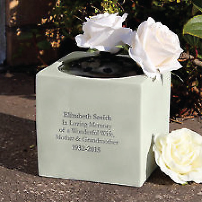 Personalised Message Memorial Vase Grave Flower Bowl Cemetery Holder Funeral