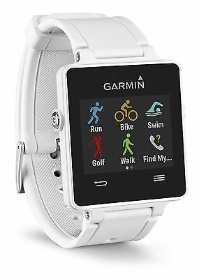 Garmin Vivoactive GPS Smartwatch Activity Tracker with Sports Apps - White